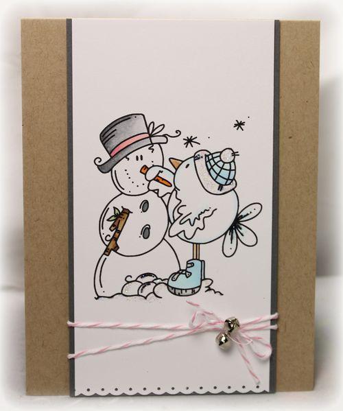 TS snowman & bird